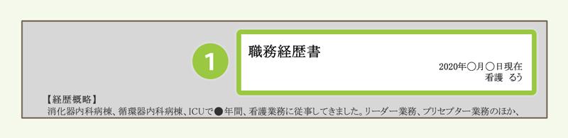 (1)タイトル・日付・氏名