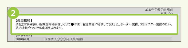 (2)職歴概要