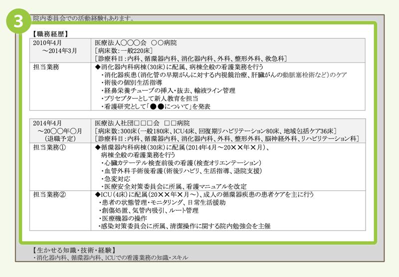 (3)職務経歴