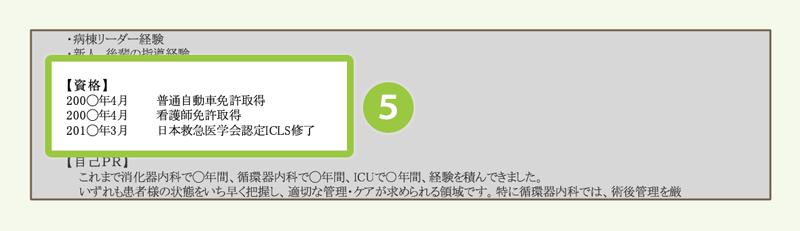 (5)資格