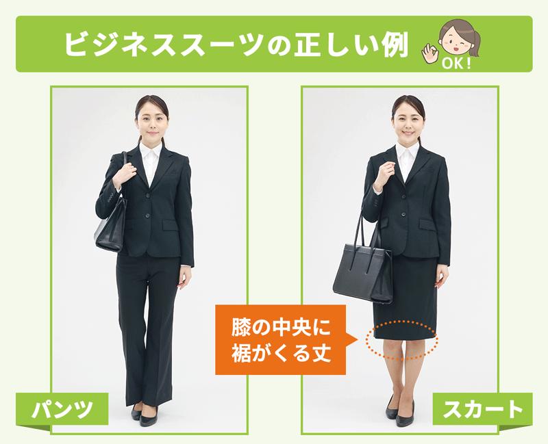 ビジネススーツの正しい例