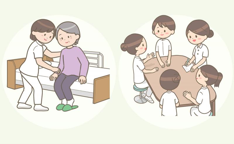 精神科病院の看護師の仕事内容。患者さんのケアやカンファレンスを行います
