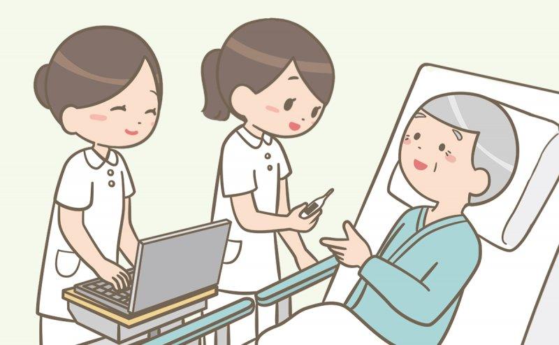 病棟で働く看護師のイラスト