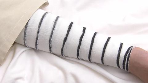 基本的な包帯の巻き方(環行帯→らせん帯) | 包帯法【1】