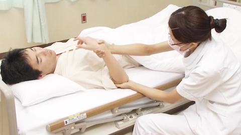 肘の屈曲と伸展(他動) | 関節可動域訓練【6】