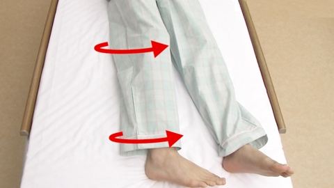 股関節の内旋と外旋(自動) | 関節可動域訓練【23】