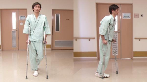 松葉杖を使用する歩行介助 | 歩行介助【2】