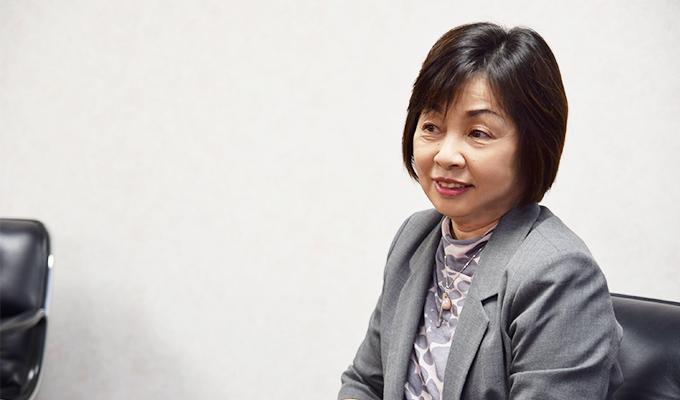 専門看護師への期待について語る井上氏の写真