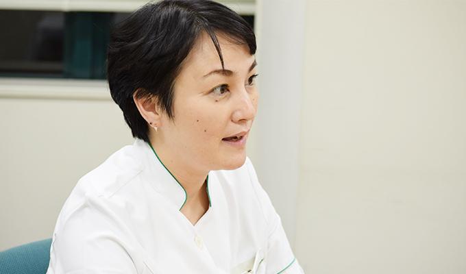 遺伝看護の特性ややりがいについて語る大川さんの画像