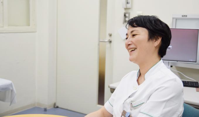 大切な患者さんとの思い出を語る大川さんの画像