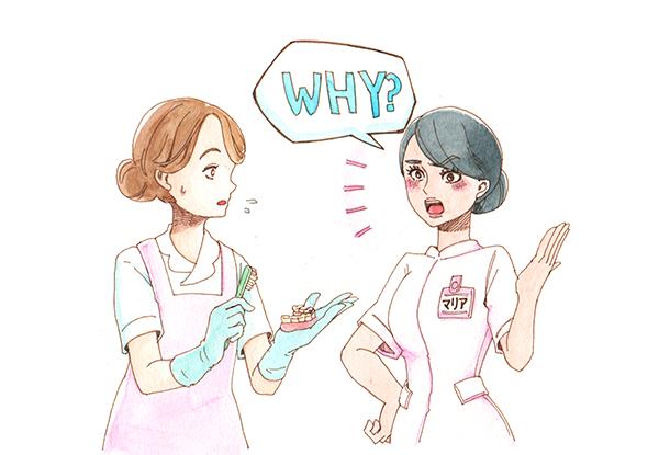 EPA看護師へ口腔ケアを指導する日本人看護師