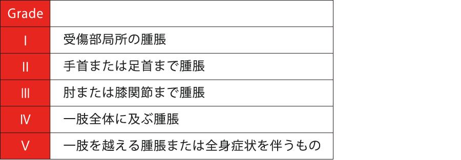 ヘビ咬傷の重症度分類