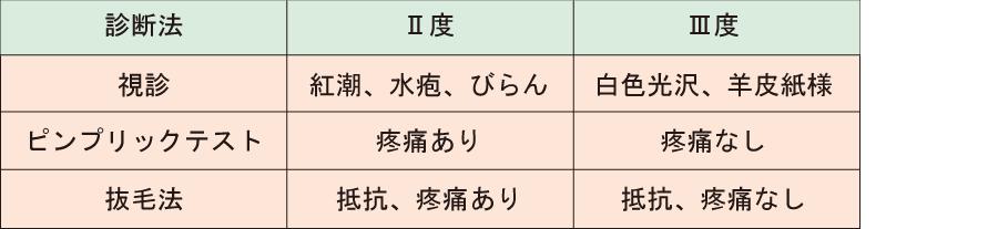 熱傷深度_ピンプリックテスト_抜毛法