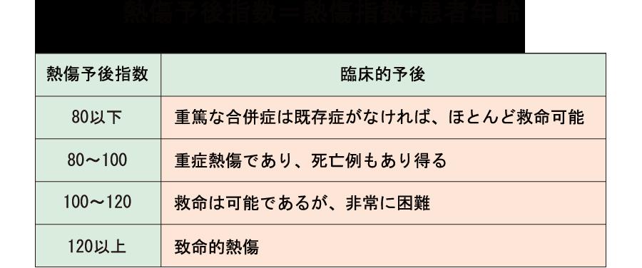熱傷予後指数_PBI_熱傷指数+年齢