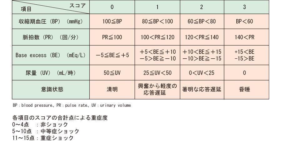 ショック・スコア(Shock Score;SS)