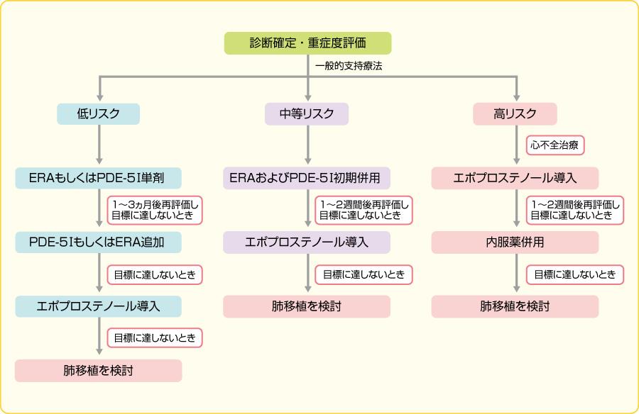 肺動脈性高血圧症治療の流れ