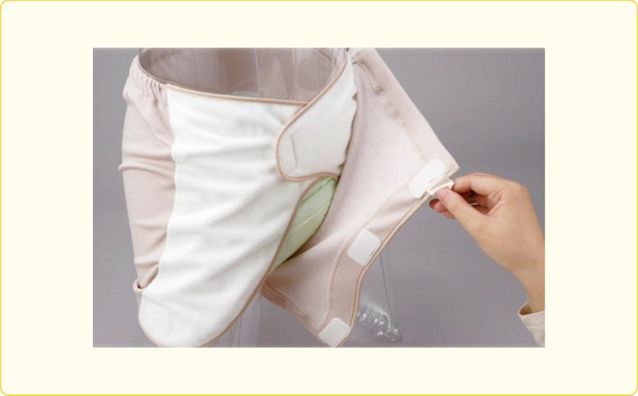 布のホルダーパンツ:前方オープンタイプ
