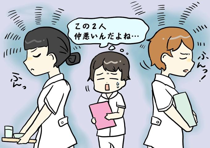 モヤモヤする看護師のイラスト
