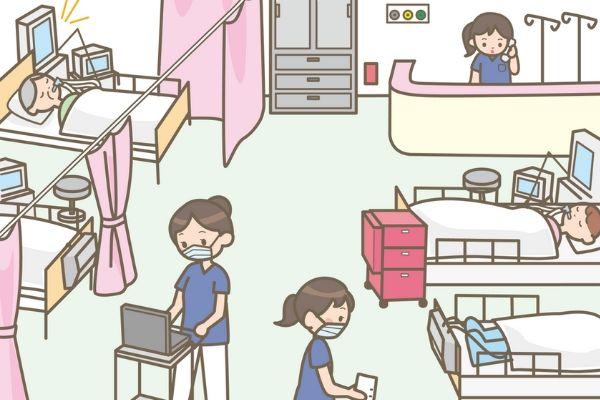 急性期病床のイメージイラスト