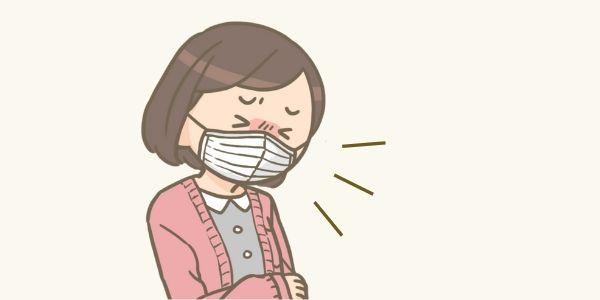 咳き込んでいる人のイラスト