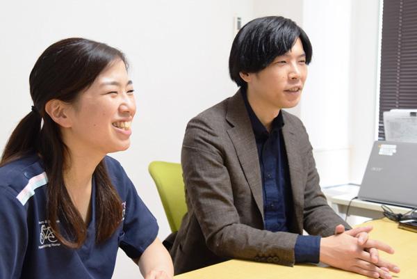 ケアプロの金坂さん、内田さんの写真