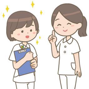 新人看護師を指導する看護師のイラスト