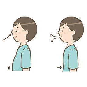 腹式呼吸のイラスト🎨【フリー素材】|看護roo![カンゴルー]