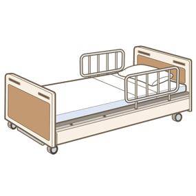 成人用のベッドのイラスト