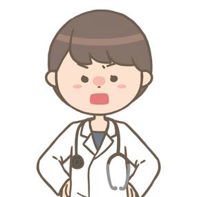 怒っている女性医師のイラスト※上半身