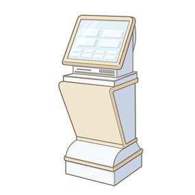 患者さんの自動受信機のイラスト