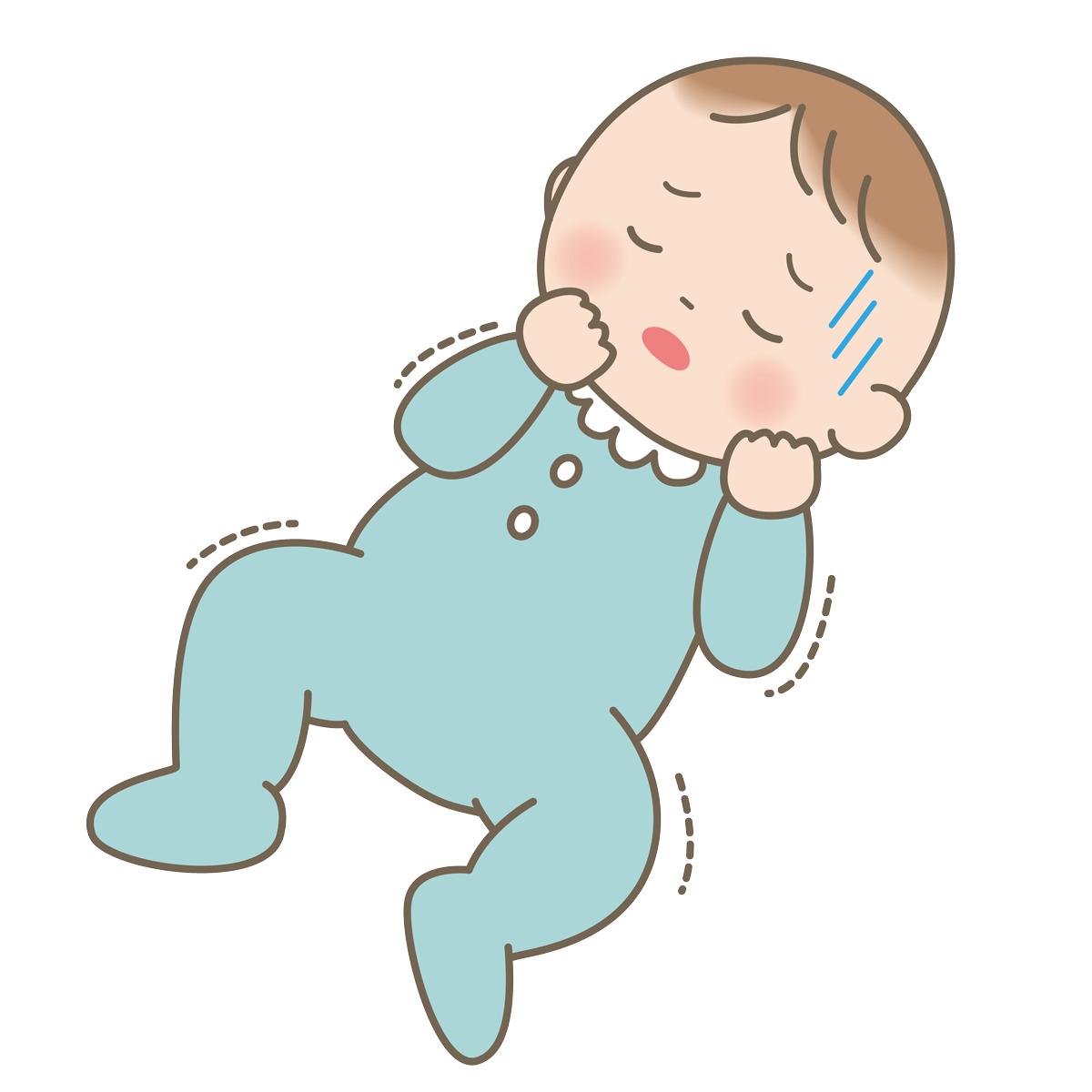 ぐったりしている赤ちゃんのイラストフリー素材看護rooカンゴルー