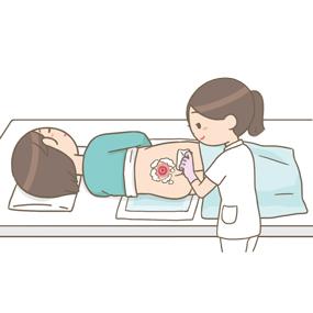 褥瘡の洗浄をしている看護師のイラスト