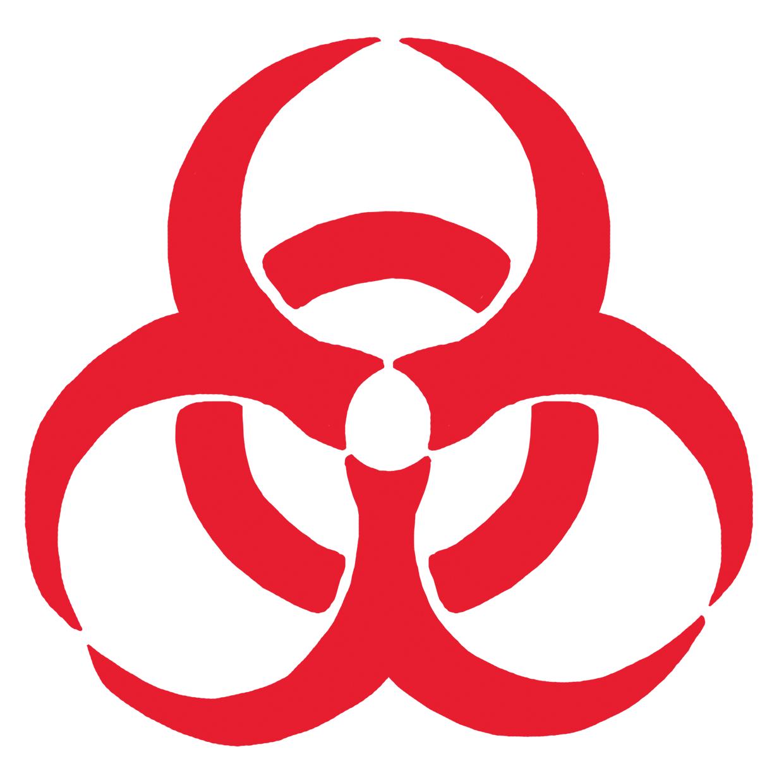 バイオハザードマーク赤のイラストフリー素材看護roo