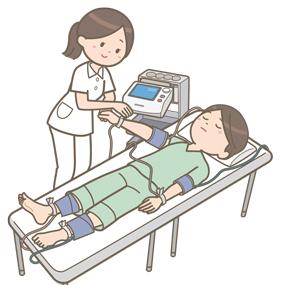血圧脈波検査のイラスト