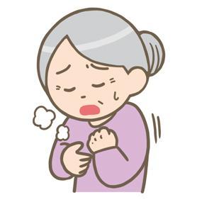 息苦しい高齢女性のイラストフリー素材看護rooカンゴルー