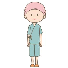 がん治療中の患者さんのイラスト