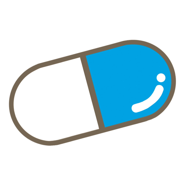 青色のカプセル薬のイラストフリー素材看護rooカンゴルー