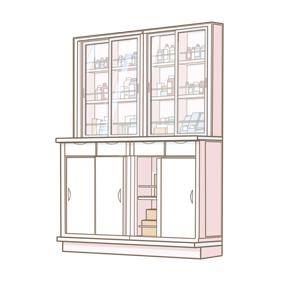 薬品棚のイラスト