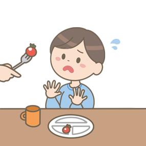 偏食の子どものイラスト