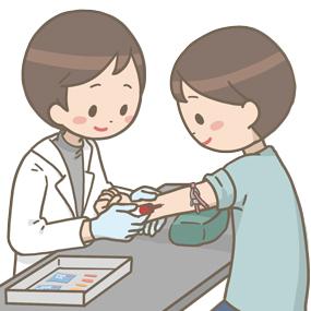 臨床検査技師が採血を行うイラスト