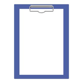 青色のクリップボード(バインダー)のイラスト