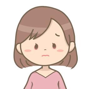 目疲れ、目に異物(こすり、花粉症)などで眼が充血してしまっている女性のイラストです。