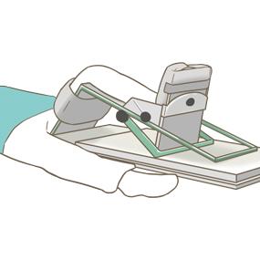 CPMの機械で運動する患者さんのイラスト