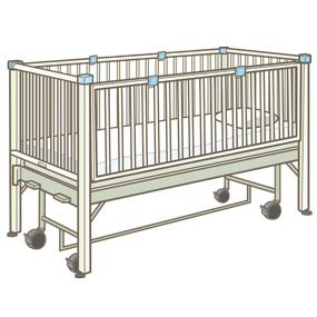 小児用のサークルベッドのイラスト