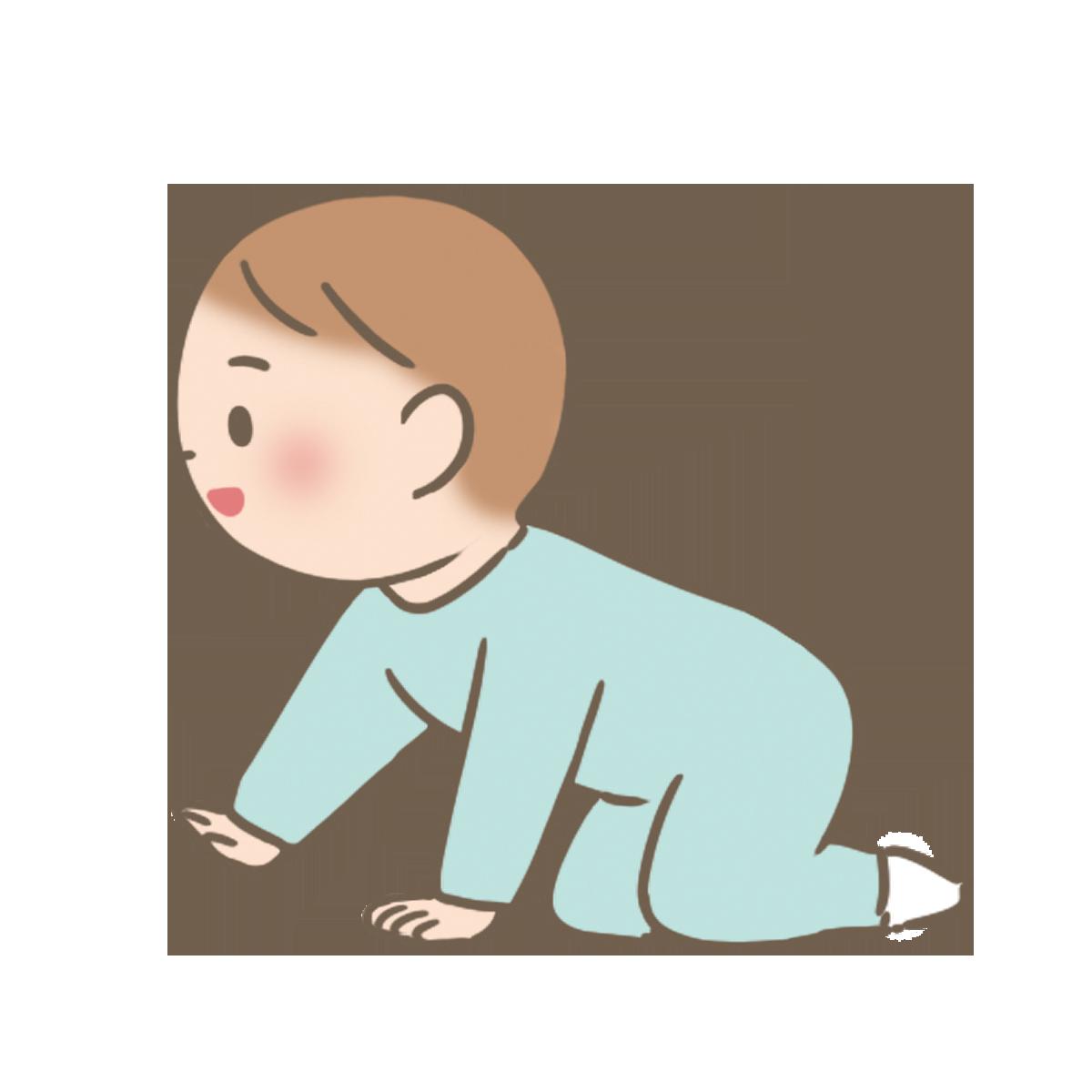 はいはいをする赤ちゃんのイラストフリー素材看護rooカンゴルー