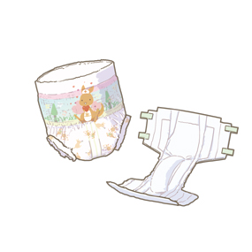 新生児用おむつのイラスト