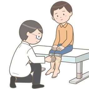 下肢静脈瘤の診察をする医師のイラスト