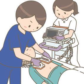 除細動器を使っている医師と看護師のイラスト