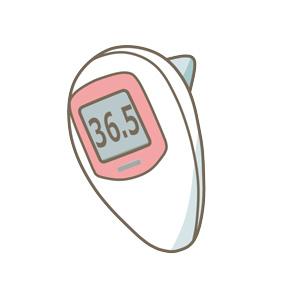 耳式体温計のイラスト