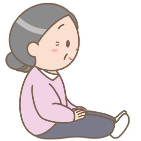 長座位の高齢女性のイラスト